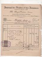FACTURE TIMBREE JOURNAL DES VENTES ET DES ANNONCES / BOYER RAMUS DIRECTEUR - NIMES 1894 - Frankrijk