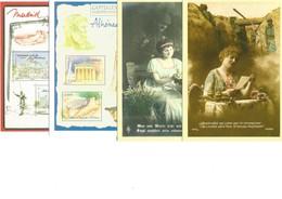 France Lot De 4 Cartes Pré-timbrées Au Tarif Monde - Faciale 5,60€ - Bijgewerkte Postkaarten  (voor 1995)