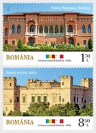 Romania 2019 - Joint Stamp Issue Malta-Romania - Architecture, Palaces Stamp Set Mnh - 1948-.... Repúblicas