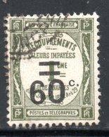 YT 52 OBLITERE  RIVE DE GIER COTE 5.40 € - 1859-1955 Used