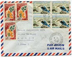 AFARS ET ISSAS LETTRE PAR AVION AVEC AFFRANCHISSEMENT MIXTE AFARS..../ COTE DES SOMALIS DEPART DJIBOUTI 27-8-1967....... - Afars Et Issas (1967-1977)