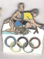 A34 Pin's VÉLO CYCLISME Natation Triathlon JO Qualité EGF Achat Immédiat - Biathlon