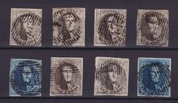 N° 6 Et 7  : 8 Timbres Margés - 1851-1857 Médaillons (6/8)