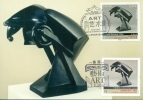 CM-Carte Maximum Card # 2012-France-HongKong # Joint-Issue # Art, Sculpture By R.Duchamp-Villon # Cheval,horse - Cartoline Maximum