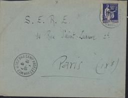 Guerre D'Espagne Retirada YT FM N°10 CAD Camp Argelès Sur Mer 66 19 10 30 Pour Le SERE S.E.R.E - Marcophilie (Lettres)