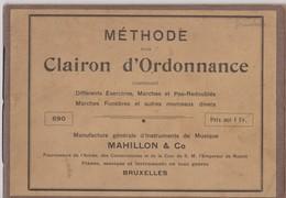 Méthode Pour Clairon D'Ordonnance, Bruxelles, 14 Pages. - Aprendizaje