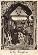 Cartolina Antica Zalig Kerstfeest, Petrus Christus (Uitgave V.W.U - 46-6) - OTTIMA R23 - Religione & Esoterismo