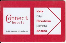 SWEDEN - Connect, Hotel Keycard, Used - Hotelsleutels (kaarten)