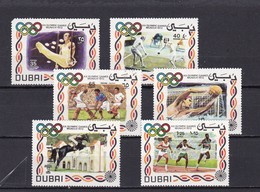 Dubai Nº Michel 410 Al 415 Un Sello Esquina Rota - Dubai