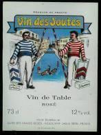 étiquette De Vin - Vin Des Joutes; Mis En Bouteille à Sète; 3 Differentes Rouge Rosé Et Blanc - Moustaches