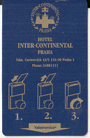 CZECHIA - Inter-Continental Praha(reverse American Express), Hotel Keycard, Used - Hotelsleutels (kaarten)