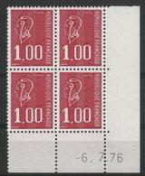 N° 1892 ** (MNH). Coin Daté Du 6/7/76. TB - Ecken (Datum)