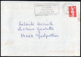 CHESS - FRANCE MONTPELLIER ESTANOVE 1991 - CHAMPIONNAT DE FRANCE D'ECHECS - LE CORUM - MONTPELLIER - Scacchi