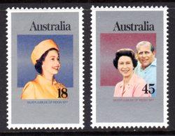 AUSTRALIA - 1977 SILVER JUBILEE SET (2V) FINE MNH ** SG 645-646 - 1966-79 Elizabeth II