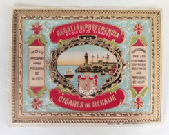 Magnifique étiquette Cigares Cuba - Cigares De Regalie Regalia De Preferencia Esquitos Tabacs - Lithographie - NEUF - Etiquettes