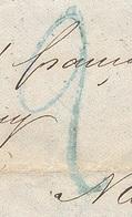 PARIS LAC Tad 15 Bleu Du 04/01/1849 Et Taxe Tampon 2 En Bleu. Rare Combinaison De Janvier 1849 TTB - 1849-1876: Classic Period