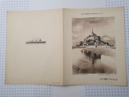 Compagnie Générale Transatlantique, French Line, Menu De 1934 - Menus