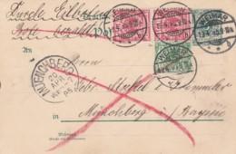 Deutsches Reich Postkarte 1895 - Gebraucht