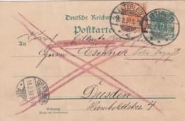 Deutsches Reich Postkarte 1897 - Gebraucht