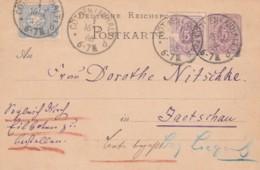 Deutsches Reich Postkarte 1886 - Gebraucht