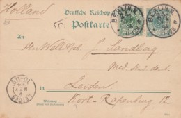 Deutsches Reich Postkarte 1894 - Gebraucht
