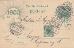 Deutsches Reich Postkarte 1900 - Gebraucht