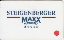 GERMANY - Steigenberger Maxx Resort Rugen, Hotel Keycard, Used - Hotelsleutels (kaarten)