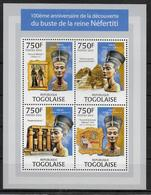 TOGO Feuillet  N° 3236/39 * *  ( Cote 18e )  Egyptologie Sphinx Pyramide Nefertiti - Egiptología