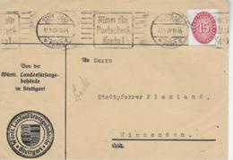 M 1  Brief Von Der Württ. Landesfürsorgebehörde Stuttgart An Den Stadtpfarrer Von Winnenden Um 1929 - Deutschland