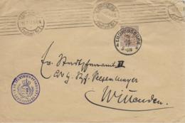 M 1  Brief Vom K. Ev. Zuchthaus-Pfarramt Ludwigsburg An Das Pfarramt Winnenden Um 1917 - Covers & Documents