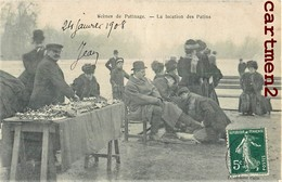 PARIS LA LOCATION DES PATINS SCENES DE PATINAGE PATINS A LOUER PATINAGE SUR LE LAC PETITS METIERS PARISIENS 75016 - Petits Métiers à Paris