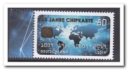 Duitsland 2019, Postfris MNH, 50 Years Of Chip Card - [7] West-Duitsland