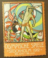 Werbemarke Cinderella Poster Stamp  Olympia Stockholm 1912  #196 - Vignetten (Erinnophilie)