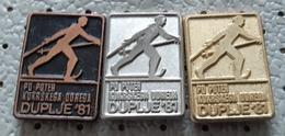 Cross-country Skiing  Marathon Duplje 1981  Slovenia Ex Yugoslavia Pins - Wintersport