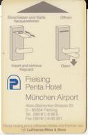 GERMANY - Freising Penta(reverse Lufthansa CityLine), Hotel Keycard, Used - Hotelsleutels (kaarten)