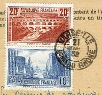 Carte Abonnement à La Poste Restante 31/03/1932 Rare Tarif 30 F Hors Voyageurs De Commerce TP 261 Et 262 TTB - 1921-1960: Periodo Moderno