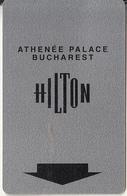 ROMANIA - Hilton Athenee Palace Bucharest(reverse Citibank), Hotel Keycard, Used - Hotelsleutels (kaarten)