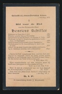 O.PASTOOR H.HERT ST.AMANDSBERG - HENRICUS SCHIFFER - GENT 1861 - ST AMANDSBERG 1899 - Décès