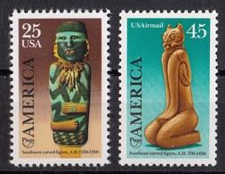 USA,1989- America, Southwest Carved Figure.Cat. Sc. 2426 & C121 Full Set NewNH - United States