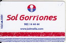 SPAIN - SOL Gorriones, Hotel Keycard, Used - Hotelsleutels (kaarten)