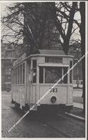 FOTO OP KAARTFORMAAT TRAM 1 LIJN ZUIDSTATION NOORDERPLAATS ANTWERPEN / RIJTUIG 383 - Antwerpen