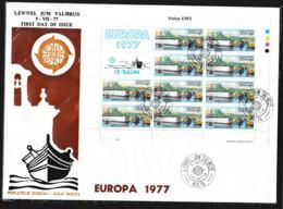 Malta FDC 1977 Europa CEPT Complete Sheet (LAR8-82) - Europa-CEPT