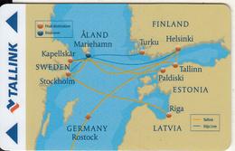ESTONIA - Tallink, Cabin Keycard, Used - Hotelsleutels (kaarten)