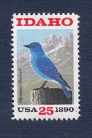 USA,1990-Centenary Of The State Of Idaho, Mountain Blue Bird. NewNH - United States