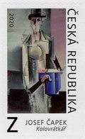 Czech Republic - 2020 - Art - Josef Čapek - Organ Grinder - Mint Self-adhesive Stamp - Czech Republic