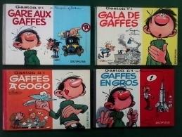 Gaston Lagaffe EXCEPTIONNEL Lot N°1 à 5 En Format à L'italienne De 1963 à 1967 & N° 6 à 11 Format Normal De 1968 à 1973 - Lots De Plusieurs BD