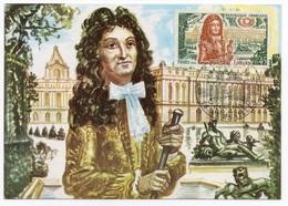 Carte Maximum  1970 - Histoire De France - Louis XIV - YT 1656 - 78 Versailles - 1970-79
