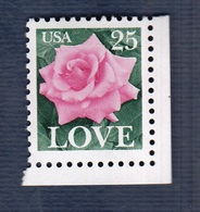 USA,1989-  Rose And Love. Scott 2378. NewNH - United States