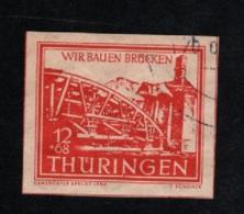 1946 30. März Thüringen Mi DD 113 Sn DE 16NB2 Yt DD-TH 18 Gestempelt O  S. Scan - Zone Soviétique