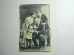 WWI FRONTE CARTOLINA BUON ANNO  ZONA  DI GUERRA 917 - Filosofia & Pensatori